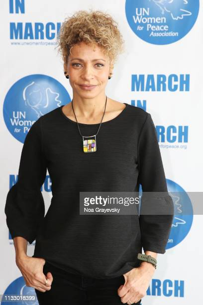 Michelle Hurd attends the UN Women For Peace Association 2019 Awards Luncheon at United Nations Headquarters on March 01 2019 in New York City
