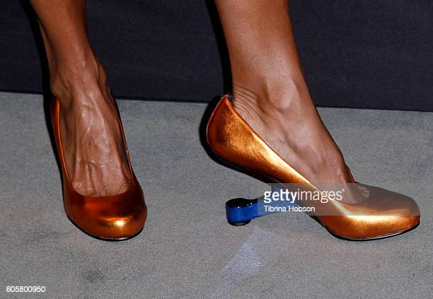 Michelle Hurd, fashion detail, attends The Paley Center for Media PaleyFest 2016 fall TV preview for STARZ at The Paley Center for Media on September...