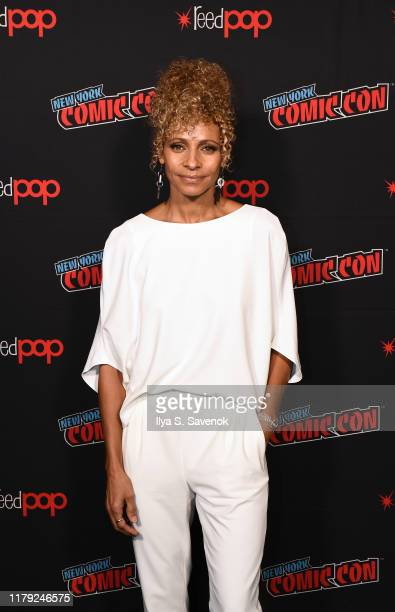 Michelle Hurd poses for a photo during New York Comic Con 2019 Day 3 at the Hulu Theater at Madison Square Garden on October 05 2019 in New York City