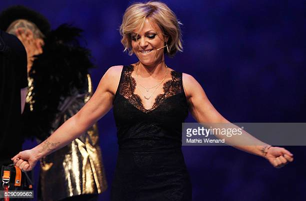 Michelle is seen on stage during the finals of the television show 'Deutschland sucht den Superstar' on May 7 2016 in Duesseldorf Germany