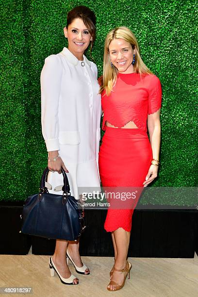 Michelle Janavs and Cara Crowley attend Louis Vuitton with Vogue and Michelle Janavs discover the Women's ReadyToWear Collection on March 27 2014 in...