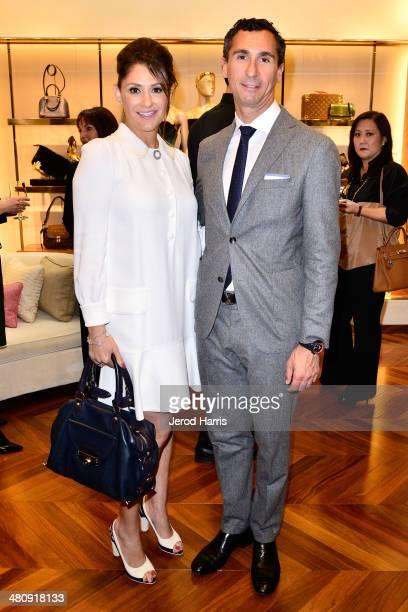 Michelle Janavs and Louis Vuitton's SVP of the Western Region Tommaso De Vecchi attend Louis Vuitton with Vogue and Michelle Janavs discover the...