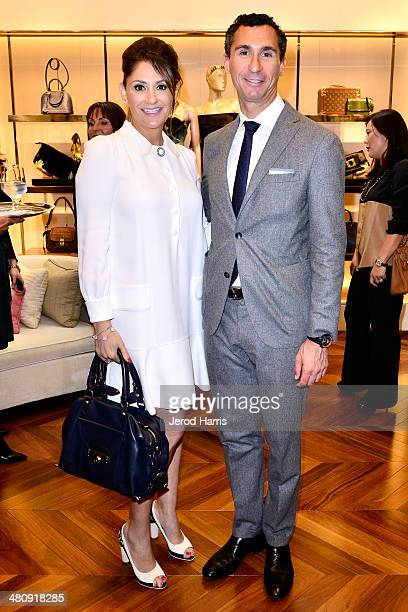 Michelle Janavs and Tomasso De Vecchi attend Louis Vuitton with Vogue and Michelle Janavs discover the Women's ReadyToWear Collection on March 27...