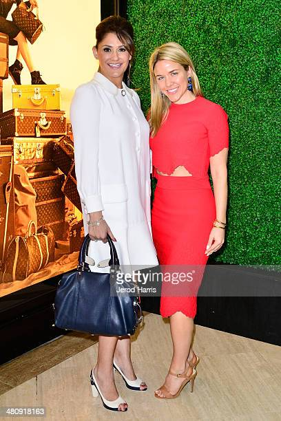 Michelle Janavs and Vogue's Cara Crowley attend Louis Vuitton with Vogue and Michelle Janavs discover the Women's ReadyToWear Collection on March 27...