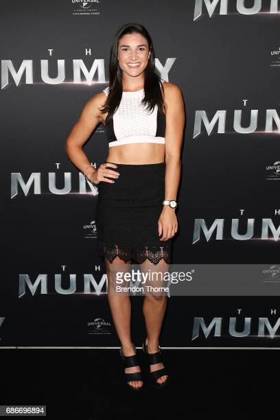 Michelle Jenneke arrives ahead of The Mummy Australian Premiere at State Theatre on May 22 2017 in Sydney Australia