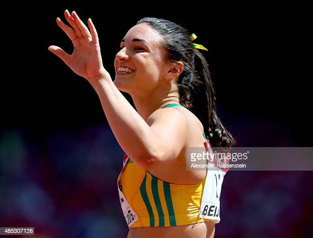 Michelle Jenneke of Australia competes in the Women's 100 metres hurdles heats during day six of the 15th IAAF World Athletics Championships Beijing...