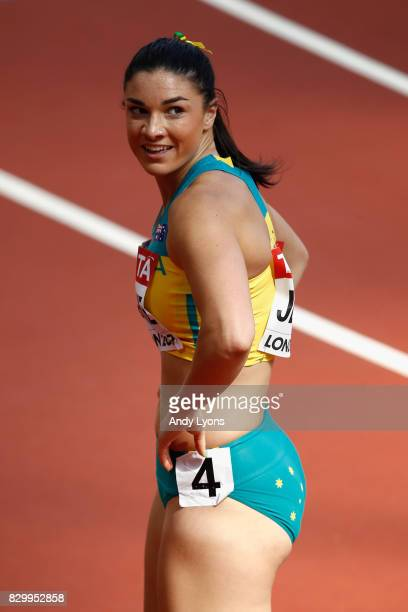 Michelle Jenneke of Australia competes in the Women's 100 metres hurdles heats during day eight of the 16th IAAF World Athletics Championships London...