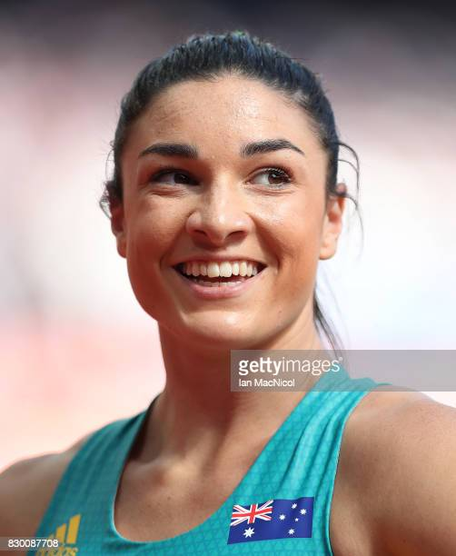 Michelle Jenneke of Australia competes in the Women's 100m Hurdles heats during day eight of the 16th IAAF World Athletics Championships London 2017...