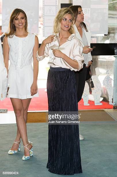 Michelle Jenner and Amaia Salamanca attend 'Nuestros Amantes' photocall at Palafox Cinema on May 31 2016 in Madrid Spain