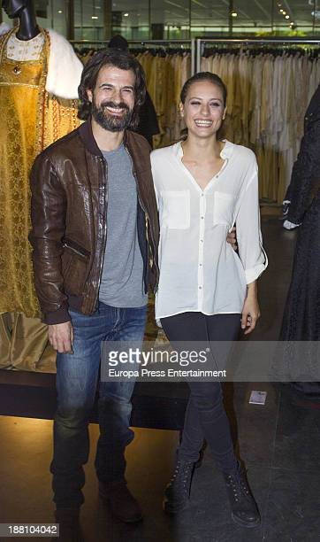 Michelle Jenner And Rodolfo Sancho attend 'Isabel Vestuario de la serie de television' on November 14 2013 in Madrid Spain