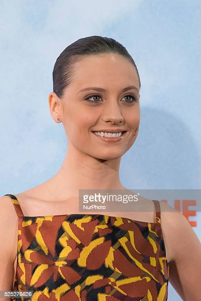 Michelle Jenner attends 'Tenemos Que Hablar' photocall at Telefonica Flagship Store on February 24 2016 in Madrid Spain