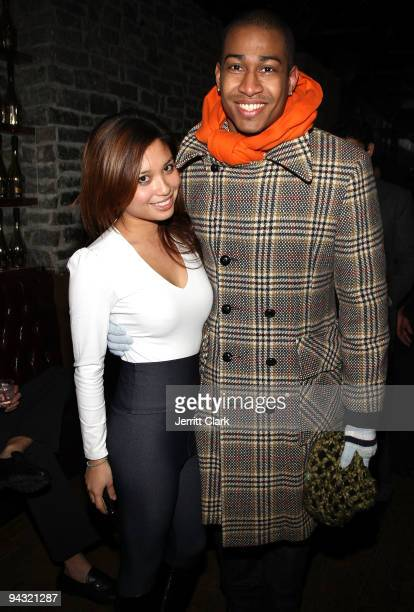 Michelle Jimenez and Alonso Felipe attend the Elf Yourself Mistletoe Madness party at The Eldridge on December 11 2009 in New York City
