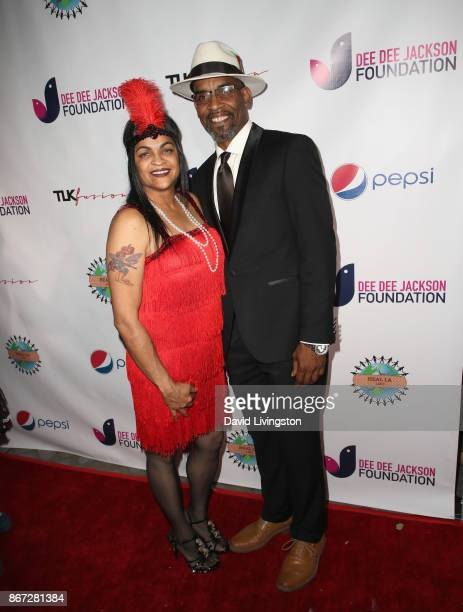 Michelle Johnson and Robert Johnson at Prince Jackson's Heal LA and TLK Fusion Present the 2nd Annual Costume for a Cause at Jackson Family Home on...