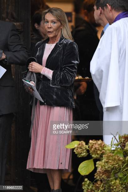 Michelle Jones mother of the victim of the terror attack in Fishmongers' Hall on London Bridge University of Cambridge graduate Saskia Jones leaves...