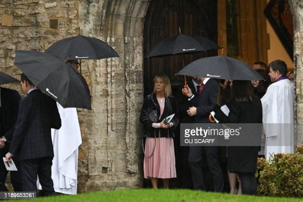 Michelle Jones mother of the victim of the terror attack in Fishmongers' Hall on London Bridge University of Cambridge graduate Saskia Jones leaves...