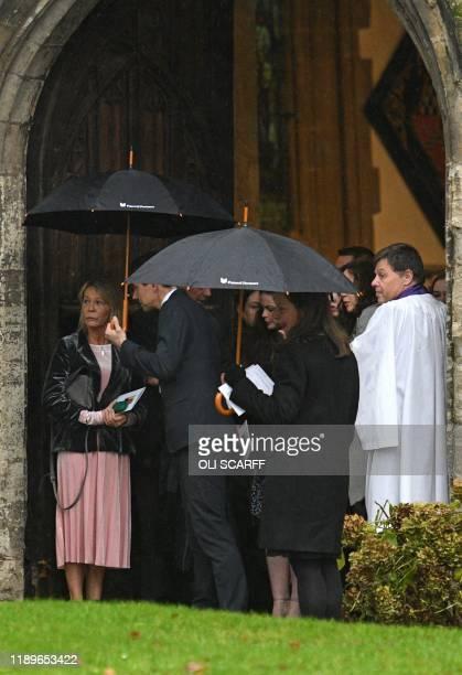 Michelle Jones mother of the victim of the terror attack in Fishmongers' Hall on London Bridge University of Cambridge graduate Saskia Jones leave...