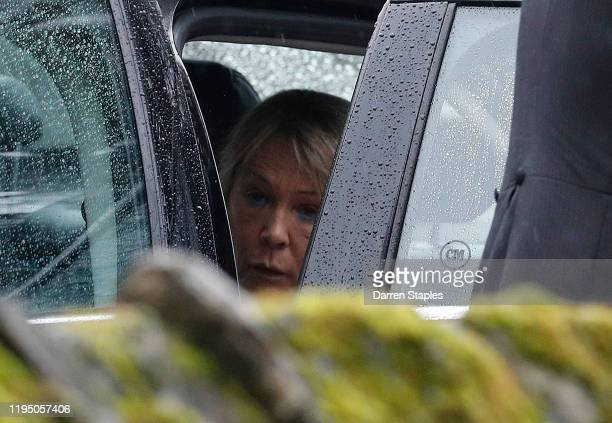 Michelle Jones the mother of Saskia Jones leaves after a memorial service to celebrate the life of her daughter at Holy Trinity Church on December 20...