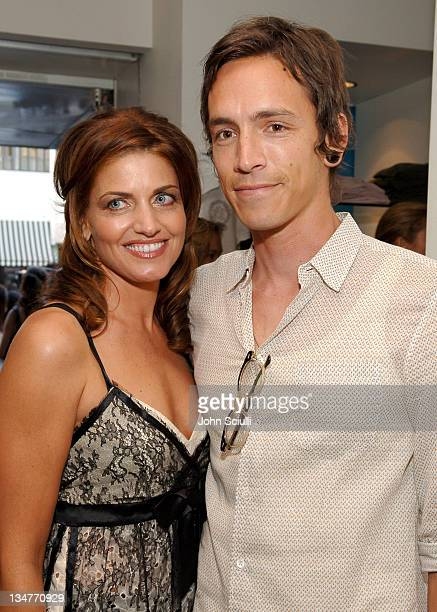 Michelle K and Brandon Boyd during Evangeline Lilly as The New Face of Michelle K at Kitson in Los Angeles California United States