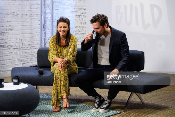 Michelle Keegan and Ben Aldridge during the 'Our Girl' BUILD panel discussion on June 5 2018 in London England