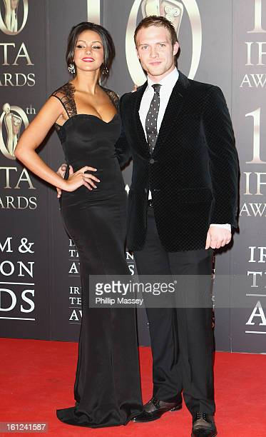 Michelle Keegan and Chris Fountain attend the Irish Film and Television Awards at the Convention Centre Dublin on February 9 2013 in Dublin Ireland