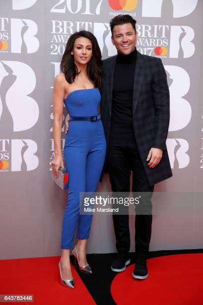 Michelle Keegan and Mark Wright attend The BRIT Awards 2017 at The O2 Arena on February 22 2017 in London England