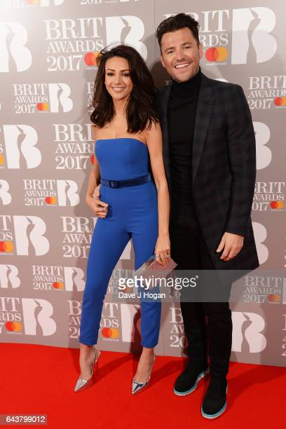 ONLY Michelle Keegan and Mark Wright attend The BRIT Awards 2017 at The O2 Arena on February 22 2017 in London England