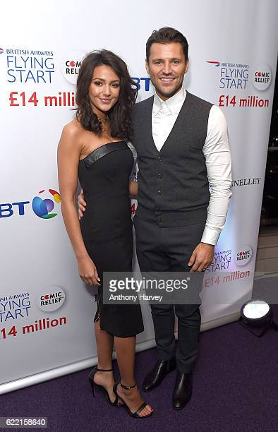 Michelle Keegan and Mark Wright attend the British Airways Flying Start event at BT Tower on November 10 2016 in London England The event celebrates...
