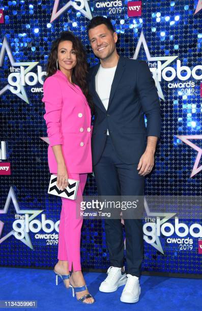Michelle Keegan and Mark Wright attend The Global Awards 2019 at Eventim Apollo Hammersmith on March 07 2019 in London England
