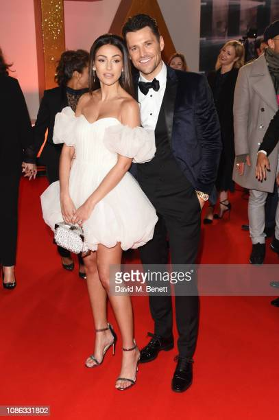 Michelle Keegan and Mark Wright attend the National Television Awards held at The O2 Arena on January 22 2019 in London England
