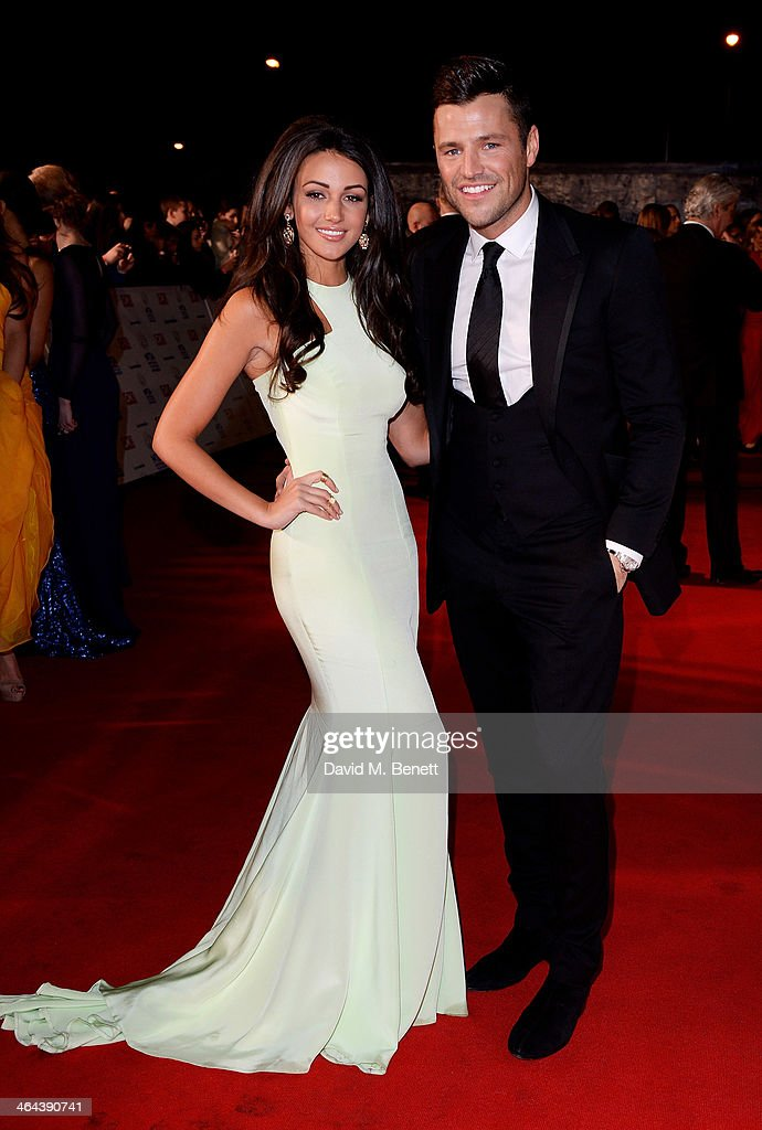 Michelle Keegan (L) and Mark Wright attend the National Television Awards at the 02 Arena on January 22, 2014 in London, England.