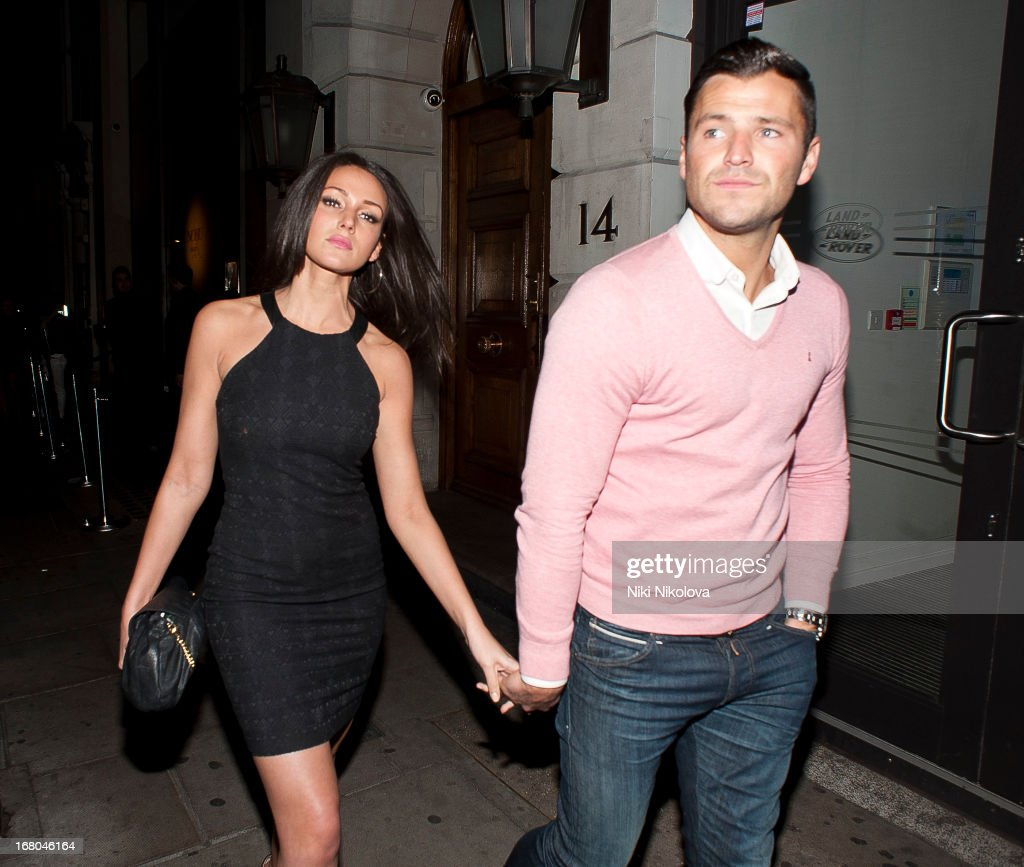 Michelle Keegan and Mark Wright sighting at Nobu Restaurant, Mayfair on May 4, 2013 in London, England.