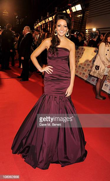 Michelle Keegan arrives at the National Television Awards at O2 Arena on January 26 2011 in London England