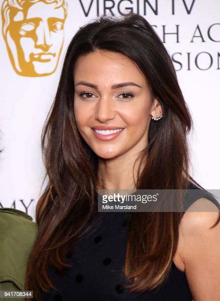 Michelle Keegan attends a press conference as the nominations for the Virgin TV BAFTA TV awards are announced at BAFTA on April 4 2018 in London...