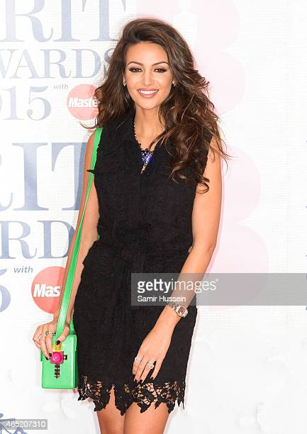 Michelle Keegan attends the BRIT Awards 2015 at The O2 Arena on February 25 2015 in London England