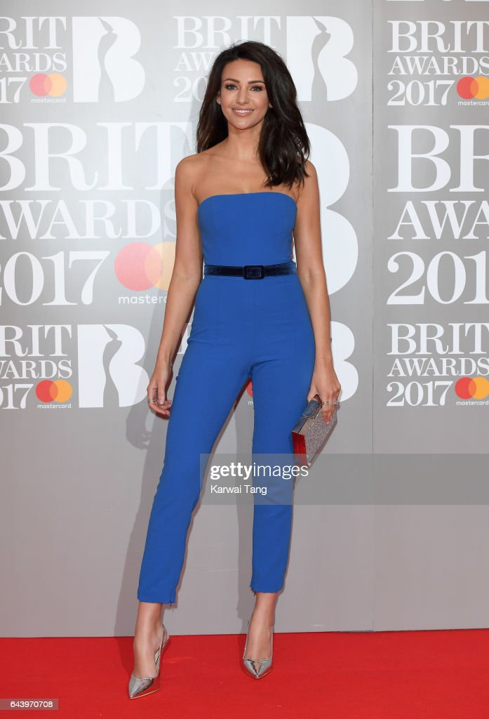 ONLY. Michelle Keegan attends The BRIT Awards 2017 at The O2 Arena on February 22, 2017 in London, England.