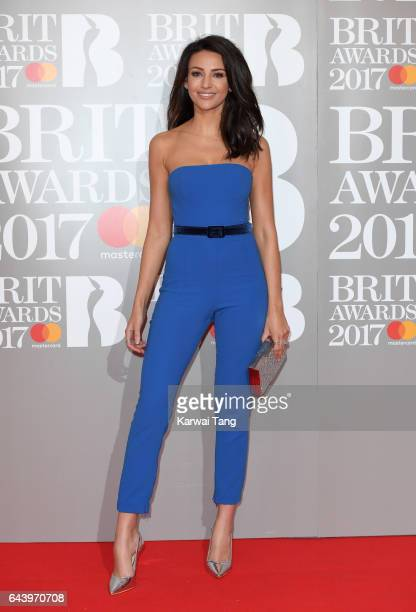 ONLY Michelle Keegan attends The BRIT Awards 2017 at The O2 Arena on February 22 2017 in London England