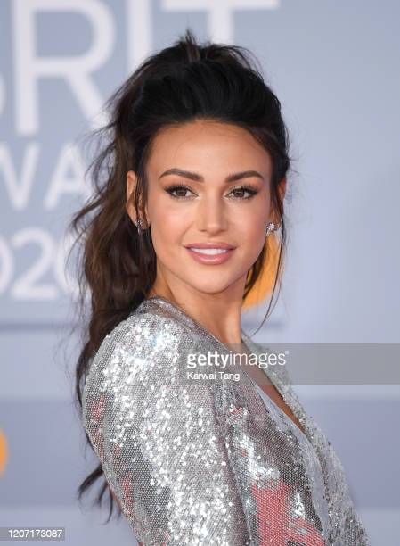 Michelle Keegan attends The BRIT Awards 2020 at The O2 Arena on February 18, 2020 in London, England.