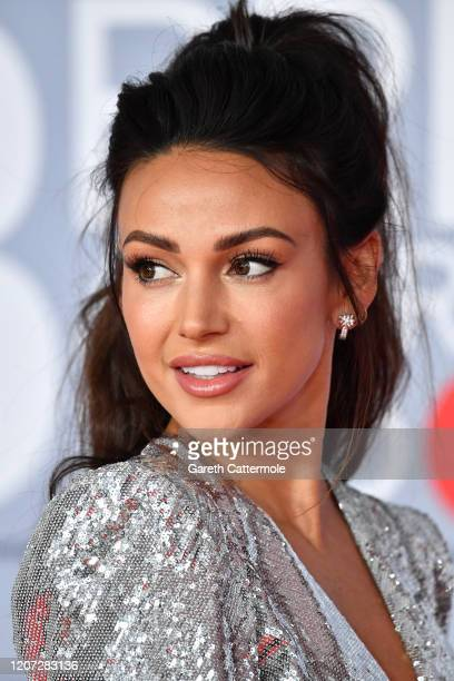 Michelle Keegan attends The BRIT Awards 2020 at The O2 Arena on February 18 2020 in London England