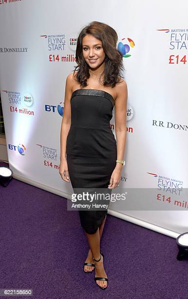 Michelle Keegan attends the British Airways Flying Start event at BT Tower on November 10 2016 in London England The event celebrates British Airways...