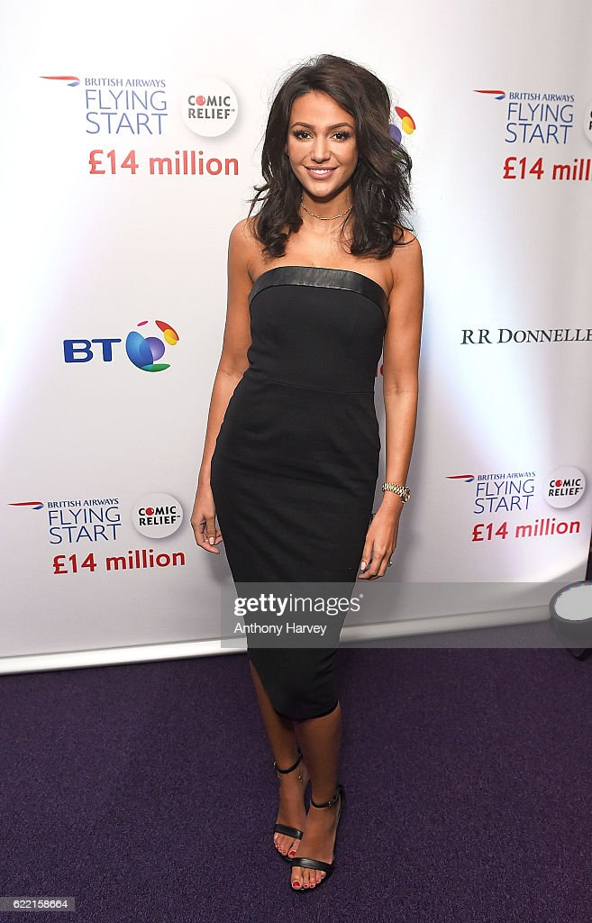 Michelle Keegan attends the British Airways Flying Start event at BT Tower on November 10, 2016 in London, England. The event celebrates British Airways raising £14 million for Comic Relief through its Flying Start partnership.