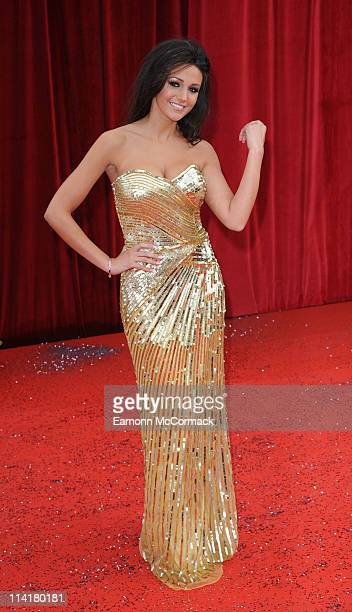 Michelle Keegan attends 'The British Soap Awards' at Granada Television Studios on May 14 2011 in Manchester England