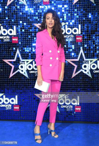 Michelle Keegan attends The Global Awards 2019 at Eventim Apollo Hammersmith on March 07 2019 in London England