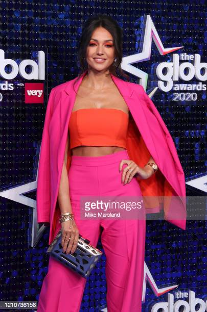 Michelle Keegan attends The Global Awards 2020 at Eventim Apollo Hammersmith on March 05 2020 in London England
