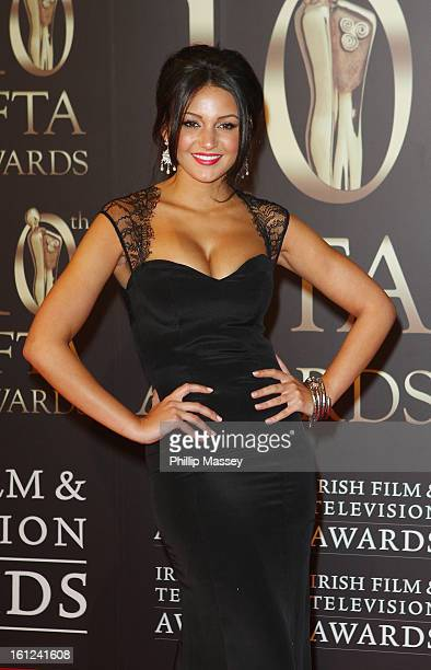 Michelle Keegan attends the Irish Film and Television Awards at the Convention Centre Dublin on February 9 2013 in Dublin Ireland