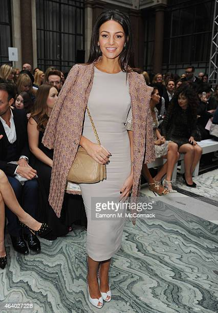 Michelle Keegan attends the Julien Macdonald show during London Fashion Week Fall/Winter 2015/16 on February 21 2015 in London England