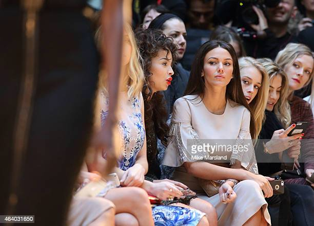 Michelle Keegan attends the Julien Macdonald show during London Fashion Week Fall/Winter 2015/16 on February 21 2015 in London United Kingdom