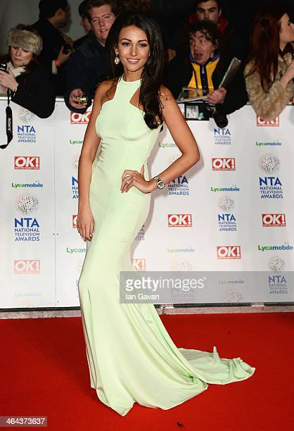 Michelle Keegan attends the National Television Awards at 02 Arena on January 22 2014 in London England
