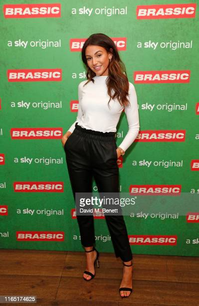 Michelle Keegan attends the preview of Sky original Brassic all episodes of the comedy drama available August 22 on July 30 2019 in London England