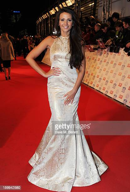Michelle Keegan attends the the National Television Awards at 02 Arena on January 23 2013 in London England
