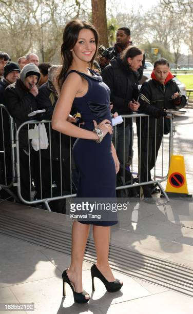 Michelle Keegan attends the TRIC awards at The Grosvenor House Hotel on March 12 2013 in London England